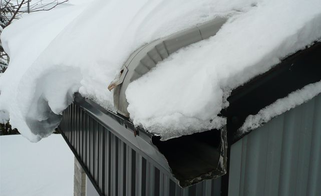 Ice Build Ups In Rain Gutters