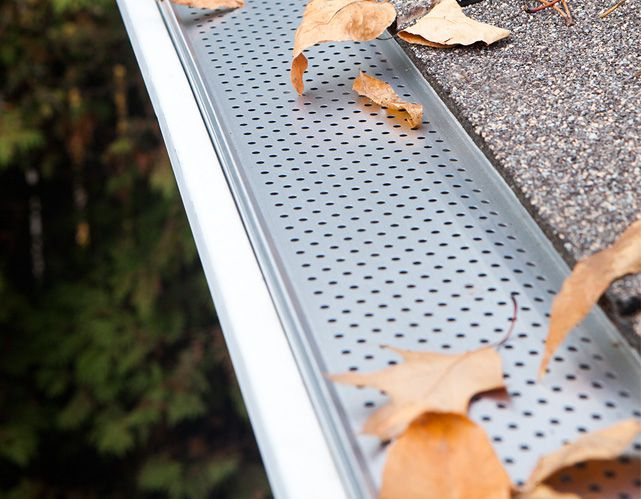 Gutter Protection Perforated Metal