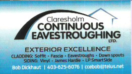 Claresholm Continuous Eavestroughing Ltd.